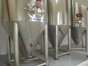 Copperworks' fermenting tanks