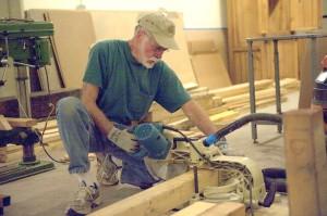 John Parker, working on the rickhouse