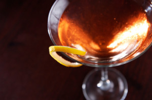 Whiskey cocktail, dark background - iStock_000004145407XSmall